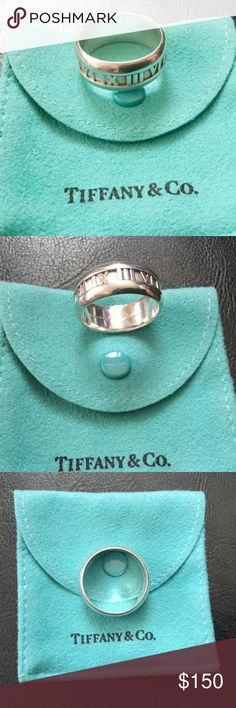 Tiffany & Co. Atlas Sterling Silver Ring Authentic Tiffany & Co. men's Atlas ring.  Size 11 1/2.  In great pre-loved condition.  Needs cleaning and polishing.  Reasonable offers welcome!  Pouch included.  No trades. Tiffany & Co. Accessories Jewelry