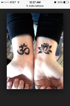 The namaste symbol on the left is also something that has a lot of meaning to me.