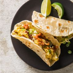 Breakfast Tacos  We love tacos for lunch and dinner. So why not for the most important meal of the day?