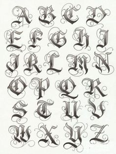 Lettering Tattoo Fonts 07. Idea letters to fix my knuckles
