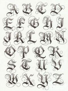 Lettering Tattoo Fonts 07