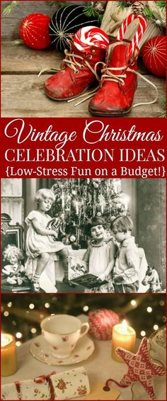 Enjoy the holidays with these Frugal Vintage Christmas Celebration Ideas! Save money by incorporating these old-fashioned and simple Christmas traditions into your family's celebration this year. Relax and enjoy a low-stress, low-tech Christmas with your Vintage Christmas Crafts, Old Time Christmas, Frugal Christmas, Homemade Christmas, Family Christmas, Simple Christmas, All Things Christmas, Holiday Fun, Christmas Holidays