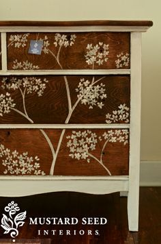 paisley painted furniture - Google Search