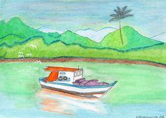 Trabalho em aquarela 2016 Barco de Pesca