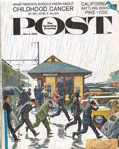The Saturday Evening Post October 7 1961 John Falter Vintage Americana Art