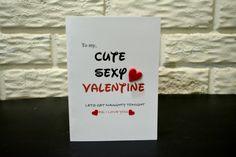 To my, CUTE SEXY VALENTINE card, Valentine's Day card, Valentine's Day card for him card, Valentine's Day card for her card by NishsCreations on Etsy