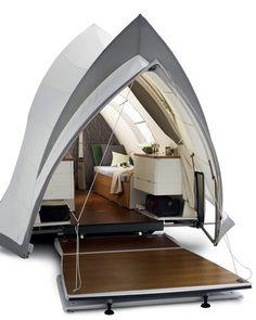 the YSIN Opera caravan, interior