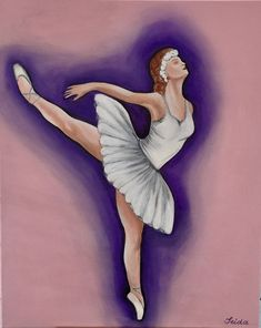 Acrylic painting ballerina,girls bedroom,abstract painting,wall art, by RainbowByIrida on Etsy