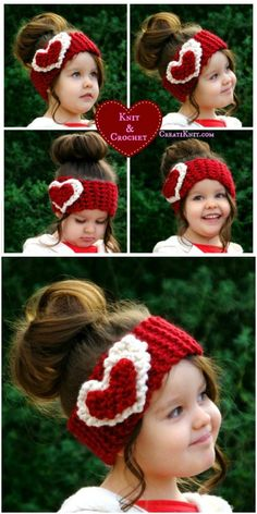 Crochet Beanie Ideas Easy Crochet patterns is a very versatile project and can be so much fun.Valentine crochet Head Warmer - I decided to show you some of the best and easy crochet patterns that beginners can try and show their talent in this field. Bandeau Crochet, Crochet Headband Pattern, Easy Crochet Patterns, Crochet Beanie, Knit Crochet, Easy Patterns, Crochet Ideas, Ravelry Crochet, Blanket Patterns