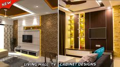 30 living room tv cabinet designs with color combination Living Room Tv Cabinet Designs, Built In Tv Wall Unit, Tv Cupboard, Tv Unit Design, Tv Furniture, Tv Cabinets, Modern House Design, Modern Decor, Modern Architecture
