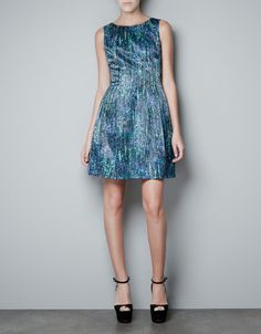 PRINTED SEQUINNED DRESS - Dresses - Woman - ZARA United States