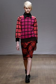 Clements Ribeiro Fall 2013: So fun with the flat refined booties. Nice bookending.