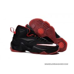 512aa36849a Nike LeBron 13 Black Red Kids Shoes Basketball Shoes Super Deals