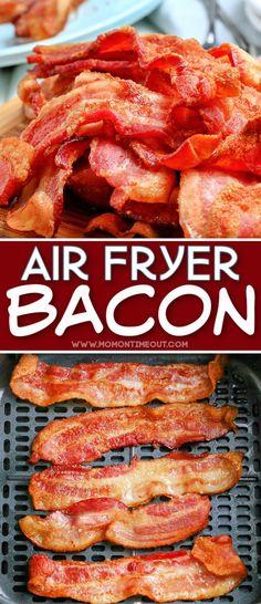 Air Fryer Recipes Bacon, Air Frier Recipes, Air Fryer Dinner Recipes, Easy Bacon Recipes, Air Fryer Cooking Times, Cooks Air Fryer, Air Fry Bacon, Small Air Fryer, Air Fried Food