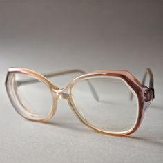 Vintage 70's Eyewear Mauve Ombre  Frames  Large by prettyinprague, $24.00