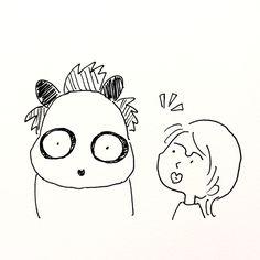【一日一大熊猫】2017.8.23 以前白毛が増えた気がしてたんだけど 最近減ったなぁ、っと思ってたら友達に 「ん?違う!全体的に黒が茶色っぽくなってるから目立たなくなっただけだ!」 と言われたよ。 色素が抜けてるのかな?うひひ。 #パンダ #髪