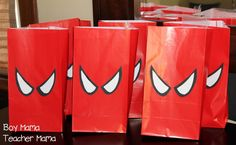 Step by step directions for making your own Spiderman goodie bags. Avengers Birthday, Batman Birthday, Batman Party, Superhero Birthday Party, Birthday Party Games, Spider Man Birthday, Spider Man Party, 3 Year Old Birthday Party, 4th Birthday