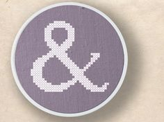 ampersand cross stitch pattern - cross stitch reminds me of my grandma! i adore cross stitch