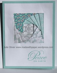 Iris Folding Square with Winter Frost Designer series paper | Made with paper