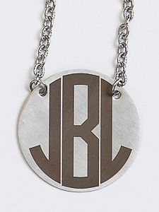 "JBloom 16-18"" XLarge Monogram Necklace"