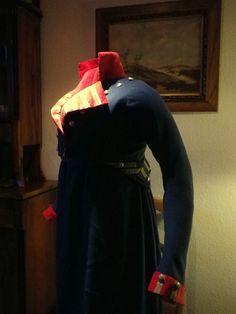 Kleidung um 1800: 1806 Paradeuniformreitkleid Königin Luise von Preußen