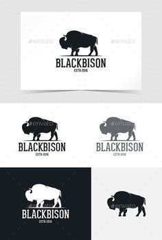 Logo Design Template, Logo Templates, Design Logos, Graphic Design, Logo Inspiration, Buffalo Logo, Buffalo Art, Bison Tattoo, Logos Vintage
