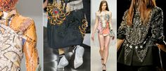Punky stitches in fashion & art #embroidery #stitches #textile #imperfectdesign #trends #fashion