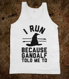 I Run Because Gandalf Told Me To.. wrong quote in the movie he says ''fly you fools'' not run you fools