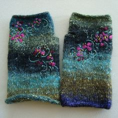 Gloves for my mum (x-mas gift) | Flickr - Photo Sharing! Nice embroidery idea on instructions, pic only