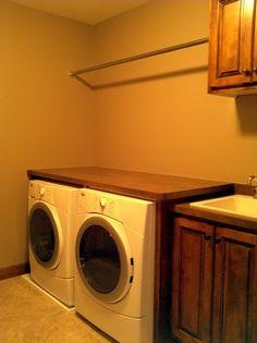 Utility Sink on Pinterest Trough Sink, Unfinished Basement Laundry ...