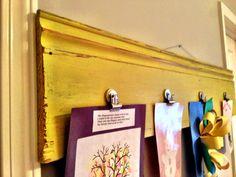 Cool way to hang kids artwork