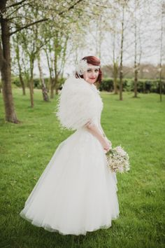 Pretty Pastel Shades and Ostrich Feather Glamour: A 1950s Rock n Roll Inspired Bride   Love My Dress® UK Wedding Blog