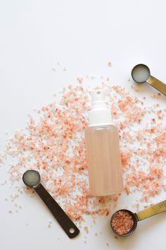 DIY sea salt spray via Michelle Phan