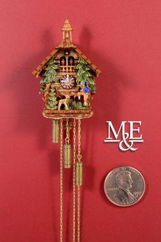 "Miniature Cuckoo Clock ""Pines"""