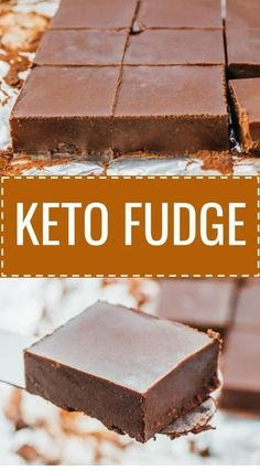 This is a simple and easy recipe for keto fudge. You can add flavor variations like peanut butter or chopped nuts. This low carb treat is no bake and quick to make, using the microwave or stovetop to melt the chocolate. I use Swerve to replace sugar a. Dessert Oreo, Bon Dessert, Dessert Bars, Appetizer Dessert, Yummy Recipes, Fudge Recipes, Keto Desert Recipes, Vegan Recipes, Crab Recipes