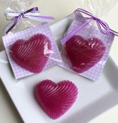 Purple swirl essential lavender heart soap by HancoxHomestead, $5.00