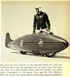 "The ""World's Fastest Indian"" - Herbert James ""Burt"" Munro - NZ"