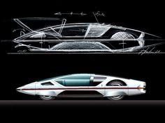 Ferrari 512 Modulo by Pininfarina - still very futuristic