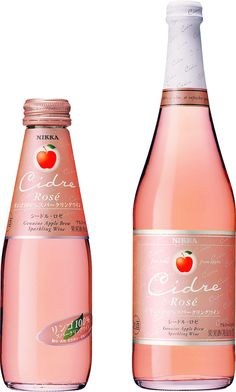 Beautiful sparkling rose apple cider #packaging PD