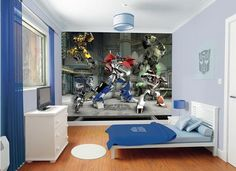 Optimus Prime Transformers Fall of Cybertron Wall Murals Stickers for Kids Bedroom Decorating Designs Ideas
