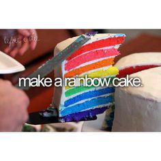 Make a Rainbow Cake