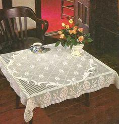 #444 Primoroso Mantel a Crochet o Ganchillo