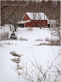 A New England Christmas-like scene