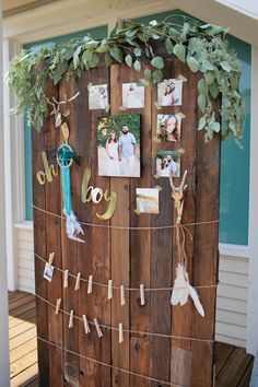 Photo Backdrop from a Boho Baby Shower via Kara's Party Ideas | KarasPartyIdeas.com (75)
