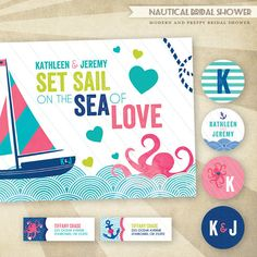 Custom Nautical Bridal Shower  PRINTABLE Party Collection by HWTM!