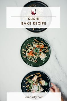 A fun way of eating homemade sushi for an afternoon snack idea. This sushi bake recipe is an excellent one-pot meal for the whole family. A sushi casserole that can be paired with white and rosé wines. #howtomakesushi #cookedsushirecipes #snackfoodideas #sushifillingsideas #foodandwinerecipes #winepairingswithfood Best Fish Recipes, Seafood Recipes, Wine Recipes, Baking Recipes, Brunch Recipes, Snack Recipes, Sushi Recipes, Healthy Recipes, Sushi Fillings