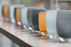 a beautiful set of glassybaby color.