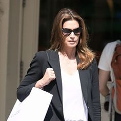 Cindy Crawford is seen out shopping in Soho in New York