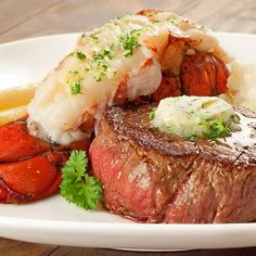 Classic surf and turf makes the perfect Valentine's Day dinner - elegant and surprisingly easy to make at home.