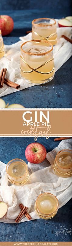Apple Pie Cocktail | Fall Cocktail | Apple Drink | Gin Drink | At Home Cocktail | Cocktail Party Inspiration | Fall Party Inspiration | Dairy Free Drink | Vegan Drink | Vegan Cocktail